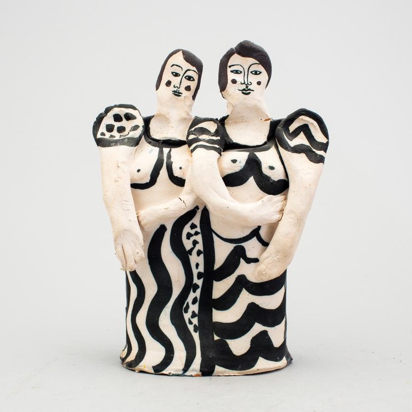 Skulptur, 26 cm hög, Bukowskis, utrop 2 000 kr. År 2016.