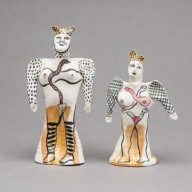 Handgjorda skulpturer, Bukowskis, utrop 2 000 kr, klibbades för 3 300 kr. År 2016.